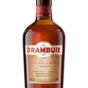 """Drambuie Scotch Whiskey Liqueur Drambuie is a whisky liqueur. A blend of aged Scotch whisky, spices, herbs & heather honey. Its origins can be traced to a secret recipe created for Bonnie Prince Charlie by his Royal Apothecary in the 18th Century. The name Drambuie is derived from Scots Gaelic 'An Dram Buidheach' and means """"The Drink that Satisfies""""."""